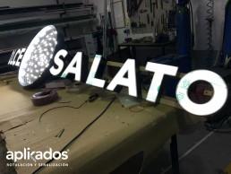 Letras Corpóreas Luz Frontal Salato, Aplikados Rótulos Valencia